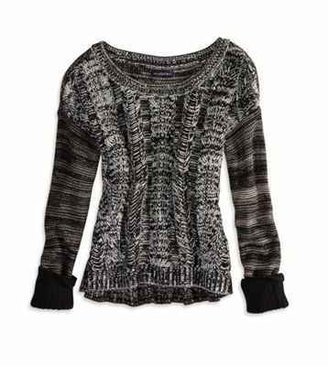 American Eagle AE Cable Marled Sweater
