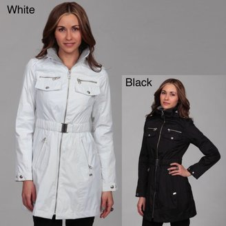 Miss Sixty Women's Zip-front Cinched Belted Coat $42.74 thestylecure.com