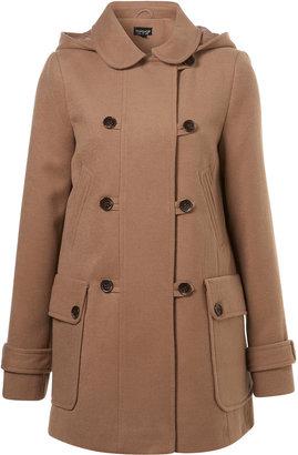 Topshop Washable Hooded Coat