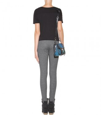 Velvet Leticia jersey and faux leather leggings