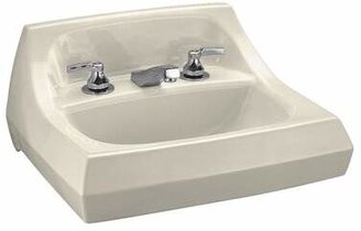 "Kohler Kingston Ceramic 22"" Wall Mount Bathroom Sink with Overflow Sink Finish: Almond"