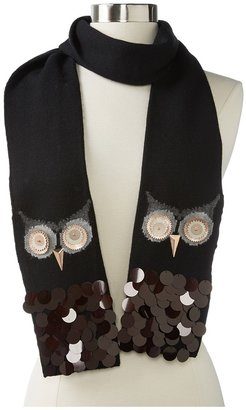 Kate Spade Night Owl Scarf (Black/Rose Gold) - Accessories