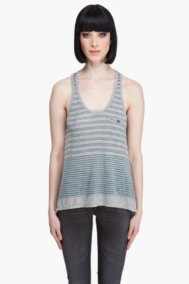 Juicy Couture Variegated Striped Jersey Tank