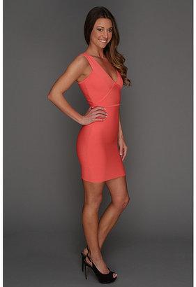 BCBGMAXAZRIA Lauren Deep V-Neck Tank Dress