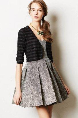 Anthropologie Shimmer Stripe Dress Topper