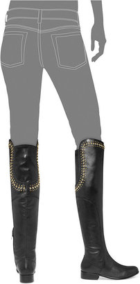 Betsey Johnson Shanah Over-The-Knee Studded Boots