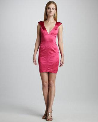 Vera Wang Charmeuse Cocktail Dress