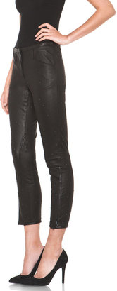 3.1 Phillip Lim Cropped Baby Studs Leather Pant in Black