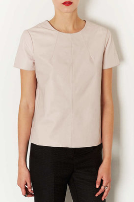 Topshop Leather Box T-Shirt