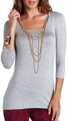 Charlotte Russe Chain Necklace Hi-Low Tunic