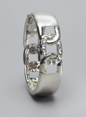 Stein & Blye Crystal Stone Link Silver Stretch Bracelet
