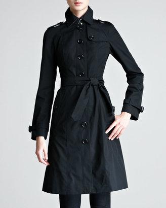 Burberry Single-Breasted Poplin Trenchcoat