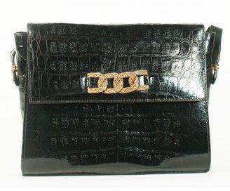 Neiman Marcus very good (VG Crocodile Black Vintage Shoulder Bag