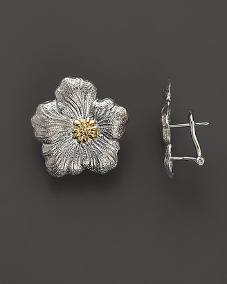 """Buccellati Blossom"""" Small Flower Earrings with Gold Accents"""