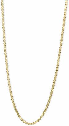 "Macy's 14k Gold Necklace, 16"" Plain Box Chain (3/4mm)"