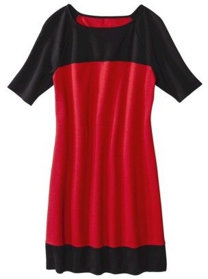Mossimo Women's Ponte Short Sleeve Color block Shift Dress - Assorted Colors