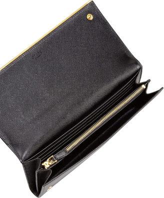 Prada Saffiano Clutch Wallet, Black (Nero)