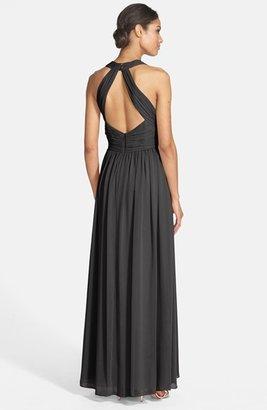 Eliza J Halter Chiffon Gown