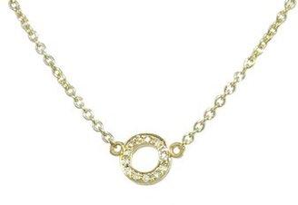 Jennifer Meyer Lower Case Diamond Initial Necklace - O - Yellow Gold