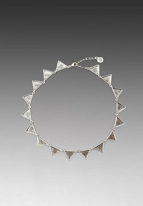 House Of Harlow Crosshatched Triangle Collar Necklace