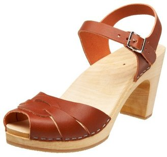 Swedish Hasbeens Women's Peep Toe Super High Clog
