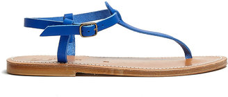 K. Jacques Blue Picon Leather Thong Sandals