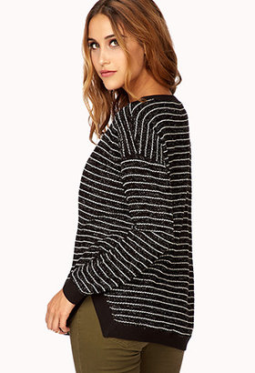 Forever 21 Dressed Up Striped Sweater