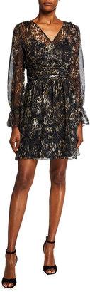 Milly Glorielle Animal Print Chiffon Dress