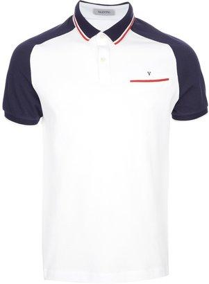 Valentino raglan sleeve polo shirt
