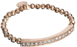 French Connection Metal Nugget & Pave Section Stretch Bracelet