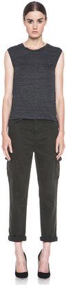 J Brand The Laura Tencel-Blend Cargo in Vintage Presidio