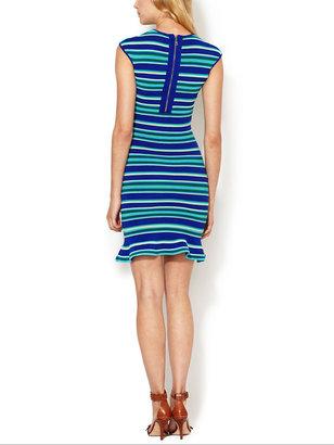 Torn By Ronny Kobo Paz Ottoman Striped Dress