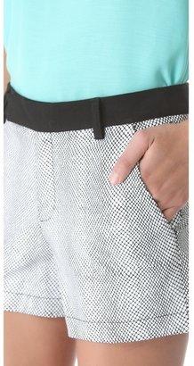 Nanette Lepore Sound Enamel Leather Shorts