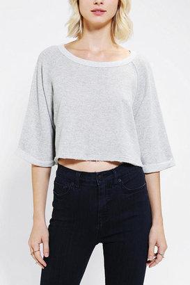 BDG Raw-Edge Pullover Cropped Sweatshirt