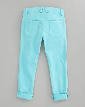 Little Marc Jacobs Stretch Sateen Slim-Fit Pants, Sizes 2A-5A