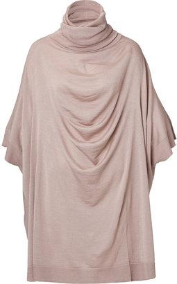 Maison Martin Margiela Wool-Silk Dolman Sleeve Turtleneck Dress