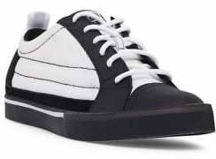 Diesel D-Velows Low Patch Canvas & Leather Sneakers