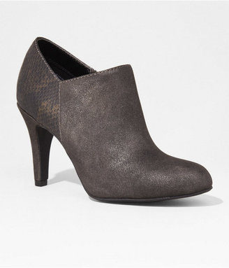 Express Distressed Mixed Media Heeled Bootie