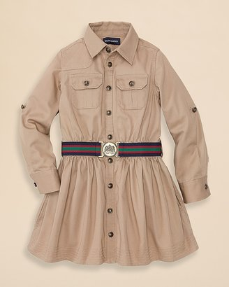 Ralph Lauren Girls' Cargo Shirtdress - Sizes 2-6X