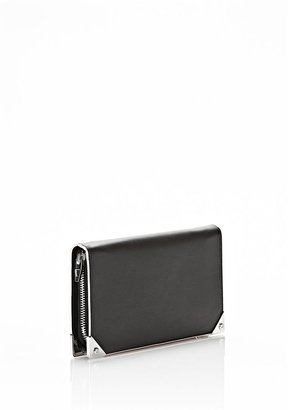 Alexander Wang Prisma Continental Wallet In Black With Rhodium