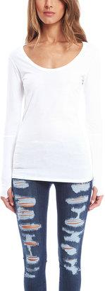 Alternative Apparel Rib Sleeve Scoop Neck Shirt $55 thestylecure.com