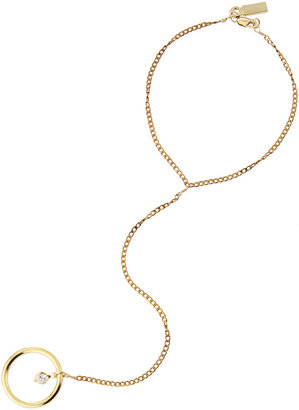 Vanessa Mooney Bright Lights Ring-to-Wrist Bracelet, Gold (Stylist Pick!)