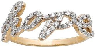 """JLO by Jennifer Lopez Jlove by 10k gold 1/4-ct. t.w. diamond """"hope"""" ring"""