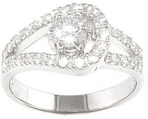 JCPenney Pure Silver Plated Cubic Zirconia Loop Ring