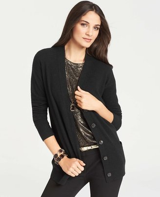 Ann Taylor Petite Collectible Cashmere V-Neck Cardigan