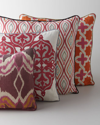 Horchow Multicolored Patterned Pillows