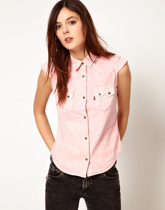 Levi's Pink Short Sleevess Shirt