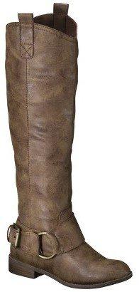 Mossimo Women's Kamari Tall Buckle Boots - Brown