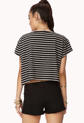 Forever 21 Boxy Striped Crop Top