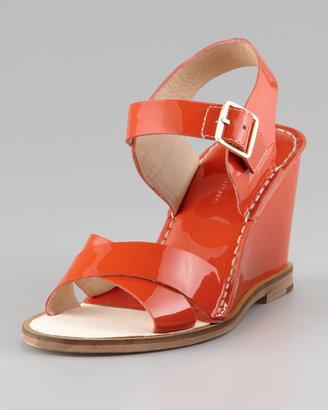 Diane von Furstenberg Dagga Patent Wedge Sandal